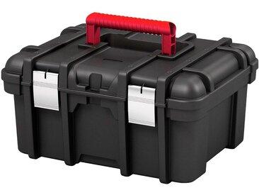 Keter KETER Werkzeugkasten »Wide «, 42x33x20 cm, 16 Zoll, mit herausnehmbarem Kleinteilefach, schwarz, schwarz