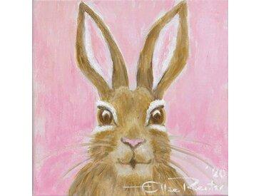 queence Leinwandbild »Little Bunny in Rosa«, Hase (1 Stück)