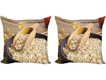 Abakuhaus Kissenbezug »Modern Accent Doppelseitiger Digitaldruck«, Haferflocken Bio-Haferflocken Bowl