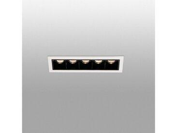 FARO Barcelona LED Einbaustrahler »TROOP 5x2W 3000K IP20 Weiß, Schwarz«