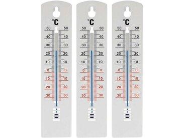 Lantelme Gartenthermometer »3 Stück Gartenthermometer weiß 20 cm«, von -34°C bis +50°C Innen- Außenthermometer