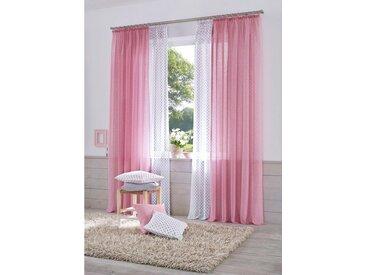 Home affaire Gardine »Hannah«, Kräuselband (2 Stück), Vorhang, Fertiggardine, transparent, rosa, rosa