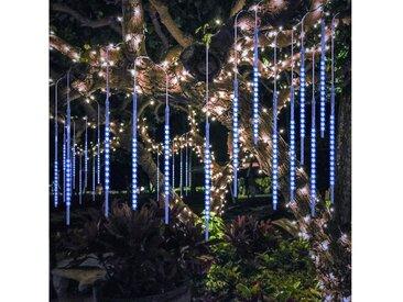TOPMELON LED-Lichtervorhang »Lichtervorhänge«, 192-flammig, LED Eiszapfen Lichtervorhang,LED Dekolicht, blau, 192 St. - 192 St. - 4 St., Blau