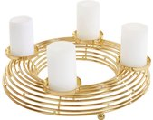 Guido Maria Kretschmer Home&Living Kerzenhalter »Parer« (1 Stück), Adventsleuchter aus Metall, goldfarben