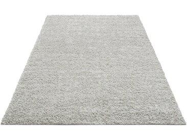 Home affaire Hochflor-Teppich »Shaggy 30«, rechteckig, Höhe 30 mm, gewebt, silberfarben, hellgrau
