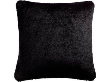 Joop! Kissenhülle »Smooth«, (1 Stück), aus hochwertigem und extraflauschigem Webpelz, schwarz, schwarz-anthrazit