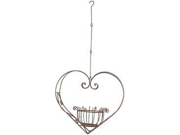 Dehner Dekoobjekt »Blumenampel herzförmig, 89 x 44.5 x 23 cm, Metall«