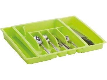Zeller Present Besteckkasten (1 Stück), ausziehbar, grün, grün
