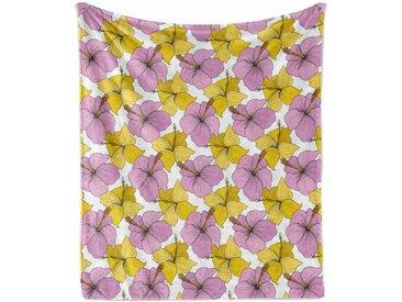 Abakuhaus Foulard »Gemütlicher Plüsch für den Innen- und Außenbereich«, Hibiskus Bicolor Wilde Tropic Flora