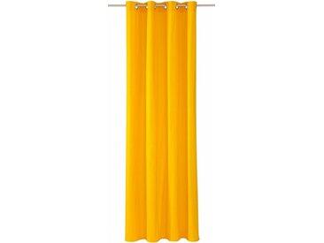 TOM TAILOR Vorhang »DOVE«, Ösen (1 Stück), gelb, sonnengelb