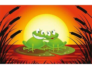 Bilderdepot24 Fototapete, Kinderbild Verliebter Frosch Cartoon, selbstklebendes Vinyl, bunt, Kinderbild Verliebter Frosch Cartoon, bunt