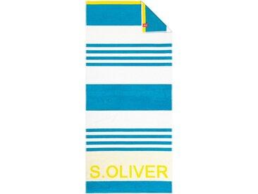 s.Oliver Strandtuch »Bath Streifen« (1-St), in knalligen Farben, grün, türkis