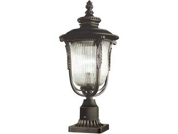 Licht-Erlebnisse Sockelleuchte »MORGANA Stehlampe Gartenleuchte Metall Riffelglas rustikal Außenleuchte Lampe«