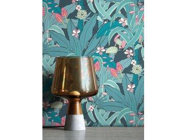 Newroom Vliestapete, Blau Tapete Blumen Tropisch - Dschungeltapete Blumentapete Türkis Floral Dschungel Tropisch für Wohnzimmer Schlafzimmer Küche, blau, Dschungel,Blumen
