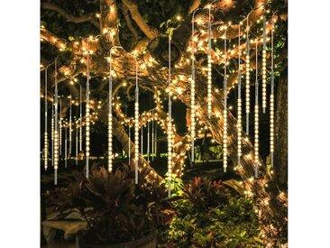 TOPMELON LED-Lichtervorhang »Lichtervorhänge«, 192-flammig, LED Eiszapfen Lichtervorhang,LED Dekolicht, gelb, 192 St. - 192 St. - 2 St., warmweiß