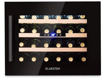 Klarstein Weinkühlschrank Einbaugerät Energieklasse B »Vinsider 24 Onyx Edition«, schwarz, schwarz