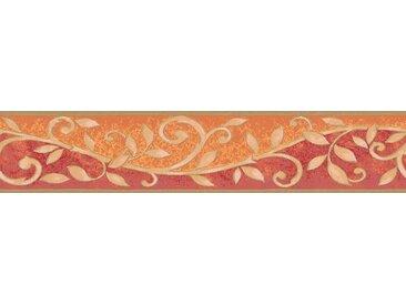 A.S. Création Bordüre »Only Borders«, aufgeschäumt, unifarben mit Farbeinsatz, barock, bunt, orange-rot