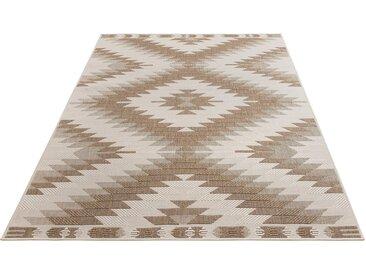 Home affaire Teppich »Antim«, rechteckig, Höhe 5 mm, Sisaloptik, beidseitig verwendbar, braun, braun-multi