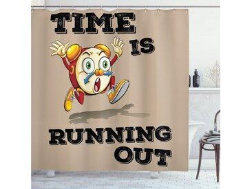Abakuhaus Duschvorhang »Moderner Digitaldruck mit 12 Haken auf Stoff Wasser Resistent« Breite 175 cm, Höhe 180 cm, Auszeit Verrückt Lustige Wecker