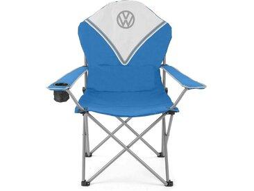 VW Collection by BRISA Campingstuhl »Deluxe VW T1 Bulli«, Mit Getränkehalter, blau, Blau/Weiß