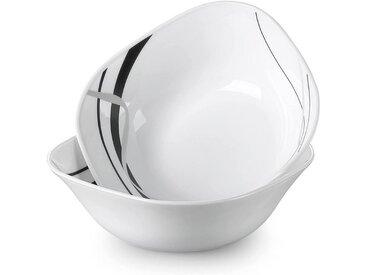 VEWEET Geschirr-Set »FIONAGLAS« (2-tlg), Opalglas, 2 tlg. - Salatschüssel