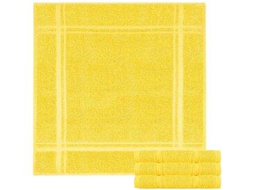 Lashuma Handtuch Set »Pure« (Spar-Set, 4-tlg), Frottee Küchentücher, Abwaschtücher aus 100% Baumwolle, gelb, mais