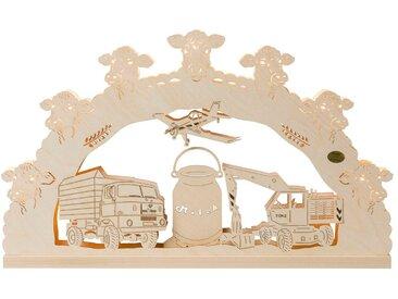SAICO Original 3D-Lichterbogen Agrar-Motiv, 7flammig elektrisch beleuchtet, natur, Natur