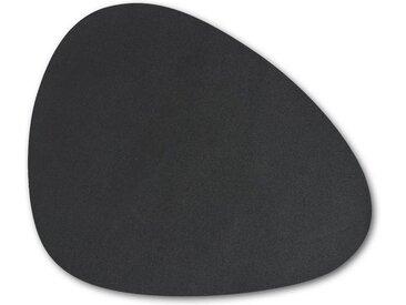 Zeller Present Platzset, (6-St), Kunstleder, abwischbar, schwarz, schwarz