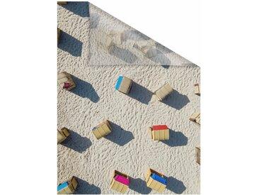 LICHTBLICK Fensterfolie »Strandkörbe«, blickdicht, strukturiert, selbstklebend, Sichtschutz