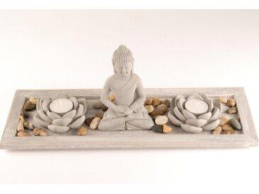 Home affaire Buddhafigur, Buddha auf Tablett (5-tlg)