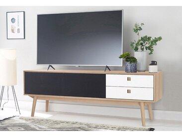 PBJ Lowboard »City«, mit Akustik Tuch, Breite 176 cm, Schubladen weiß Laminat