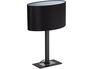 relaxdays Nachttischlampe »Elegante Nachttischlampe«, schwarz, Schwarz