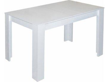Esstisch, Breite 80/110/120 cm mit Auszug, braun, weiß