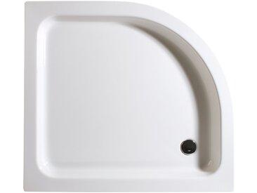 Schulte Duschwanne, rund, Sanitäracryl, flach, Version links, 90 x 100 cm