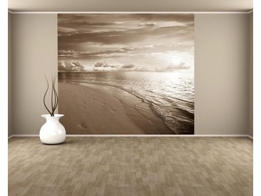 Bilderdepot24 Fototapete, Fototapete Sonnenuntergang am Strand II, selbstklebendes Vinyl, bunt, Fototapete Sonnenuntergang am Strand II, bunt