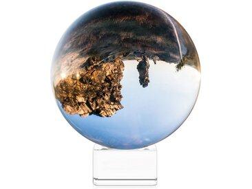 Navaris Dekoobjekt, Glaskugel Fotografie Kugel aus K9 Glas - Fotokugel mit Ständer - Kristallkugel Klare Kristall Deko mit Glasständer - Ø 100mm