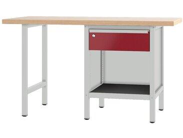 PADOR Werkbank »700.0.11 S 1/15 R«, Höhe: 85,5 cm, rot, hellgrau/dunkelrot