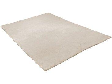 THEKO Wollteppich »Hadj Uni«, rechteckig, Höhe 25 mm, echter Berber, reine Wolle, weiß, naturweiß