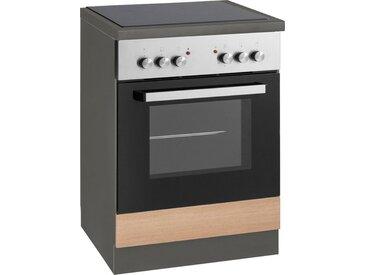 wiho Küchen Herdumbauschrank »Esbo« Arbeitsplatte ohne Ausschnitt für Kochfeld, natur, Zen Esche/Anthrazit