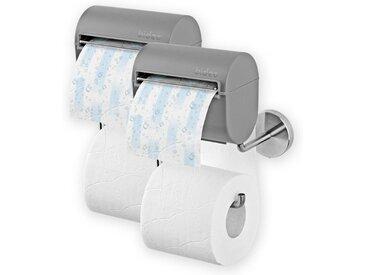 bideo Toilettenpapierhalter (2er Set), mit Befeuchtungsfunktion grau