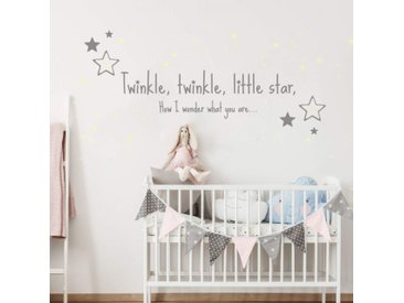 Wall-Art Wandtattoo »Twinkle little star Leuchtsterne« (1 Stück)