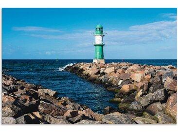 Artland Wandbild »Mole an der Ostseeküste in Warnemünde I«, Gewässer (1 Stück), in vielen Größen & Produktarten - Alubild / Outdoorbild für den Außenbereich, Leinwandbild, Poster