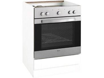 wiho Küchen Herdumbauschrank »Flexi« Höhe 82 cm, weiß, Weiß matt