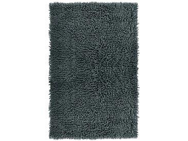 Lashuma Badematte »Chenille« , Höhe 20 mm, fußbodenheizungsgeeignet, Badvorleger Rechteckig, Größe: 50x80 cm, grau, dunkelgrau