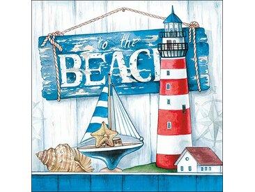 Ambiente Papierserviette »Beach«, (5 St), 33 cm x 33 cm, 5 St.