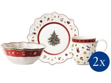 Villeroy & Boch Toy's Delight Frühstücksset »Toy's Delight«, weiß, 36x25x14cm, weiß,rot