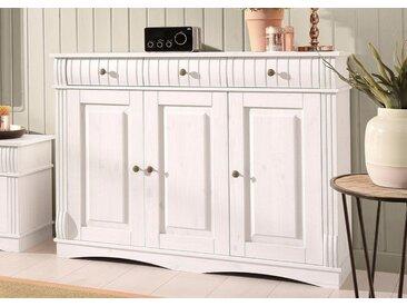 Home affaire Sideboard »Teresa«, 3-türig, Breite 119 cm, weiß, weiß