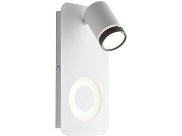 AEG Breena LED Wandspot 2flg sand weiß/schwarz, weiß, sand weiß/schwarz