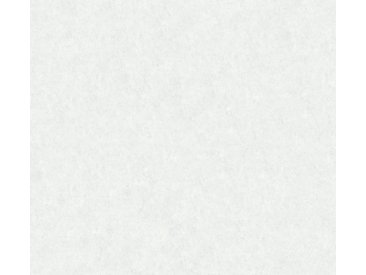 A.S. Création Vinyltapete, Tapete in Betonoptik Weiß Papier 363733 Wandtapete Modern Stuktur