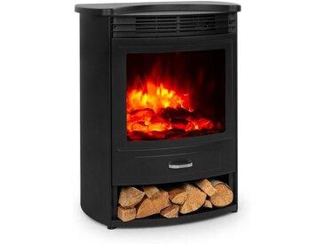 Klarstein Elektrischer Kamin 950/1900W Thermostat Woche »FP9-Bormio-S«, schwarz, schwarz